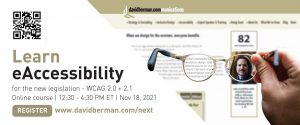 ♿ eAccessibility with David Berman: Easy steps for including your entire audience - Nov 18